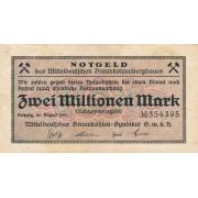 Vokietija / Leipcigas. 1923 m. 2.000.000 markių