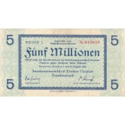 Vokietija / Dresdenas Noištatas. 1923 m. 5.000.000 markių