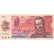Čekoslovakija. 1987 m. 50 korunų
