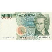 Italija. 1985 m. 5.000 lyrų