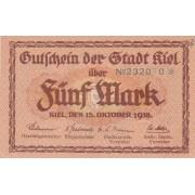 Vokietija / Kylis. 1918 m. 5 markės