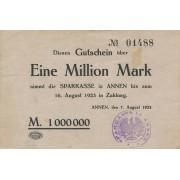 Vokietija / Anenas. 1923 m. 1.000.000 markių
