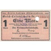 Labguva. 1918-1921 m. 1 markė. 4 skaičiai. UNC