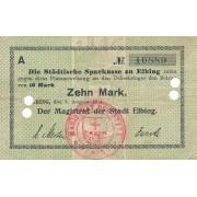 Lenkija / Elbingas. 1914 m. 10 markių