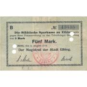 Lenkija / Elbingas. 1914 m. 5 markės