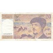 Prancūzija. 1990 m. 20 frankų
