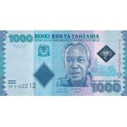 Tanzanija. 2019 m. 1.000 šilingų. P41c. UNC