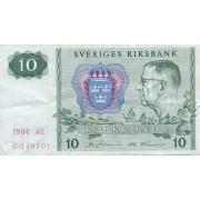 Švedija. 1984 m. 10 kronų