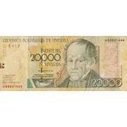 Venesuela. 2001 m. 20.000 bolivarų
