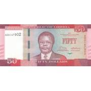 Liberija. 2017 m. 50 dolerių. UNC