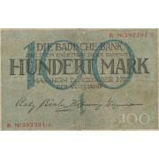 Vokietija / Manheimas. 1918 m. 100 markių