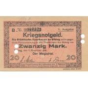 Lenkija / Elbingas. 1918 m. 20 markių
