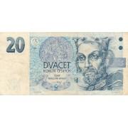 Čekija. 1994 m. 20 korunų