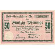 Įsrutis. 1918 m. 50 pfennig. 6 skaičiai. aUNC