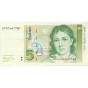 Vokietija. 1991 m. 5 markės