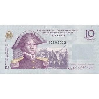 Haitis. 2016 m. 10 gurdų. P272. UNC