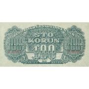 Čekoslovakija. 1944 m. 100 korunų. SPECIMEN