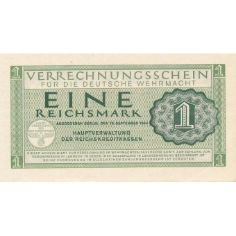 Vokietija. 1944 m. 1 reichsmarkė