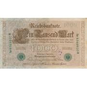 Vokietija. 1910 m. 1.000 markių