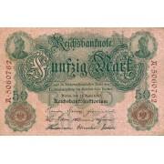 Vokietija. 1910 m. 50 markių