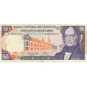 Venesuela. 1985 m. 50 bolivarų