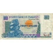 Zimbabvė. 1997 m. 20 dolerių