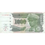 Zairas. 1995 m. 1.000 naujųjų zairų