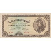 Vengrija. 1946 m. 100.000.000 pengo