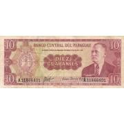 Paragvajus. 1963 m. 10 guaranių