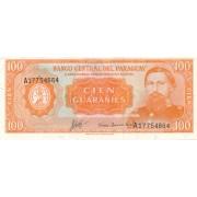 Paragvajus. 1963 m. 100 guaranių