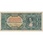 Vengrija. 1946 m. 100.000 pengo
