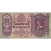 Vengrija. 1930 m. 100 pengo