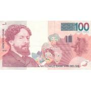 Belgija. 1995-2001 m. 100 frankų