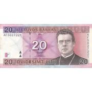 Lietuva. 2001 m. 20 litų. Serija: AF