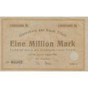 Tilžė. 1923 m. 1.000.000 markių. Serija: C. VF-