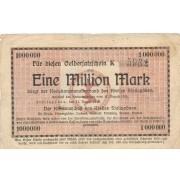 Stalupėnai. 1923 m. 1.000.000 markių. Serija: K. RETAS