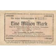 Stalupėnai. 1923 m. 1.000.000 markių. Serija: B. RETAS. F