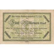 Stalupėnai. 1923 m. 5.000.000 markių. Serija: C. RETAS. VF-