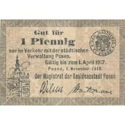 Lenkija / Poznanė. 1916 m. 1 pfennigas