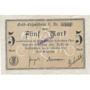 Lenkija / Kentšynas. 1918 m. 5 markės. Entwertet