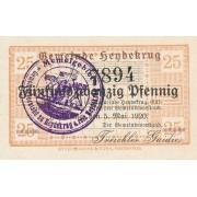 Šilutė. 1920 m. 25 pfennigai. aUNC. RETAS