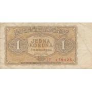 Čekoslovakija. 1953 m. 1 koruna