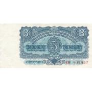 Čekoslovakija. 1961 m. 3 korunos