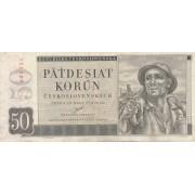 Čekoslovakija. 1950 m. 50 korunų