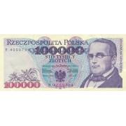 Lenkija. 1993 m. 100.000 zlotų