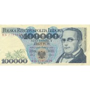 Lenkija. 1990 m. 100.000 zlotų.