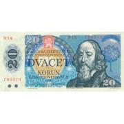 Čekoslovakija. 1988 m. 20 korunų
