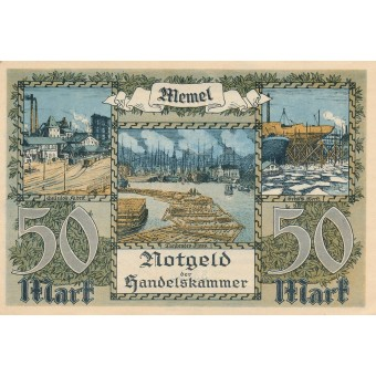 Klaipėda. 1922 m. 50 markių. XF+
