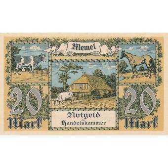 Klaipėda. 1922 m. 20 markių. aUNC