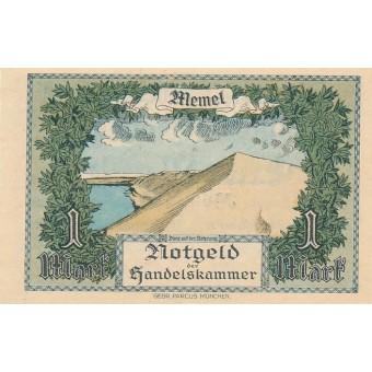 Klaipėda. 1922 m. 1 markė. UNC